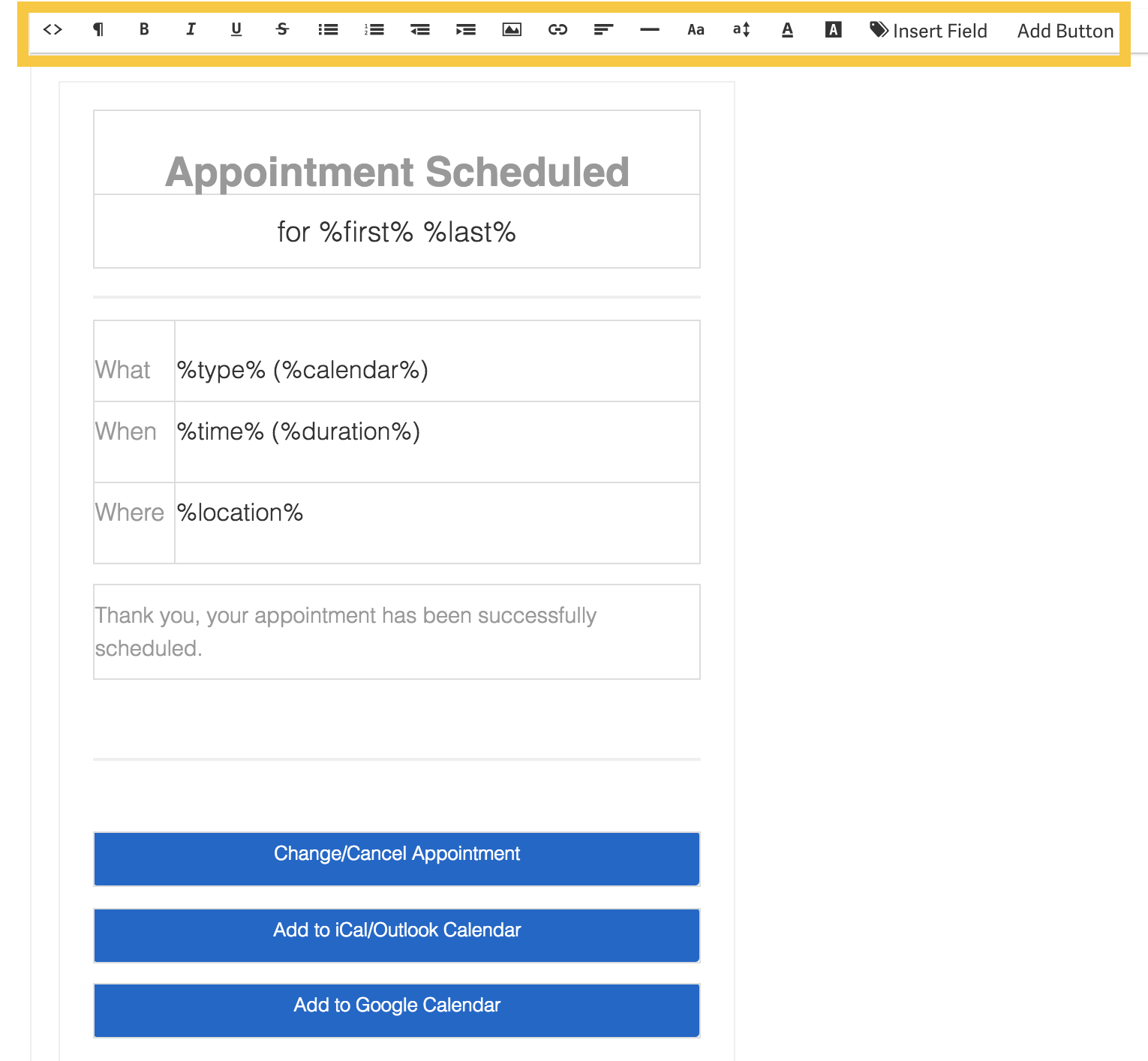 how to edit and customize your appointment notification emails