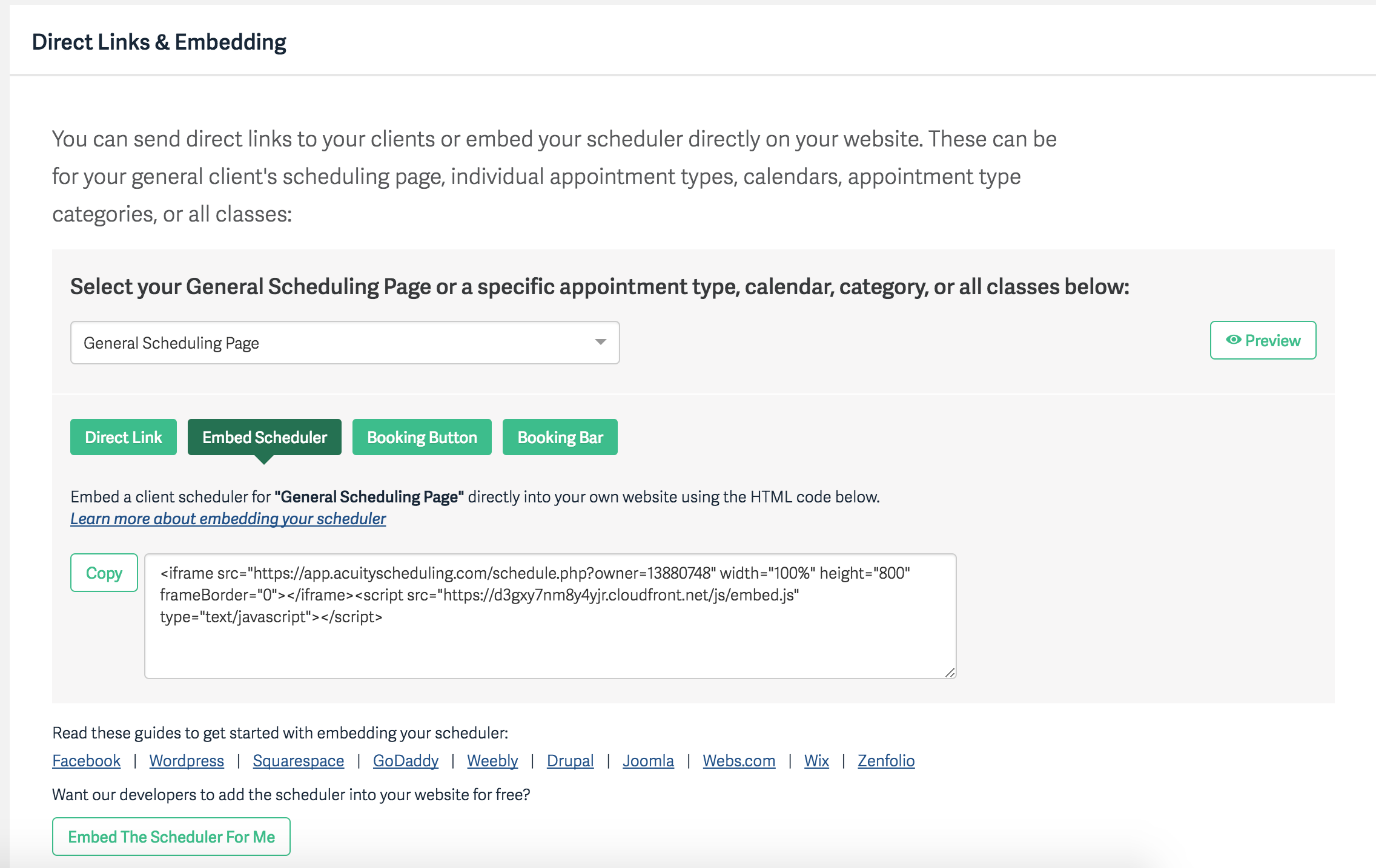Can I Embed My Scheduler on my Website? – Acuity Scheduling