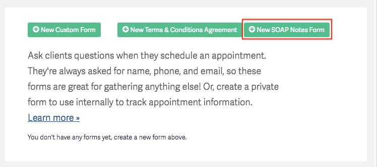 Client Intake Forms & Agreements – Acuity Scheduling