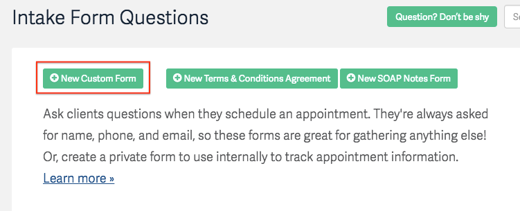Client Intake Forms Agreements Acuity Scheduling