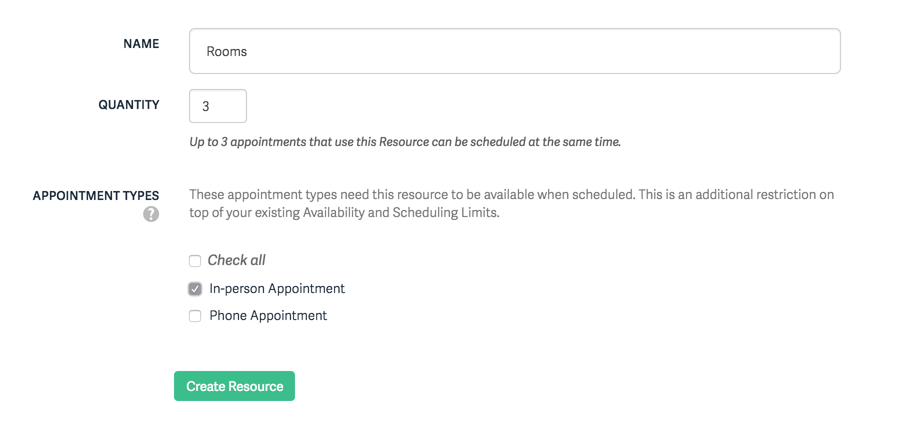 Rooms and other Resources – Acuity Scheduling