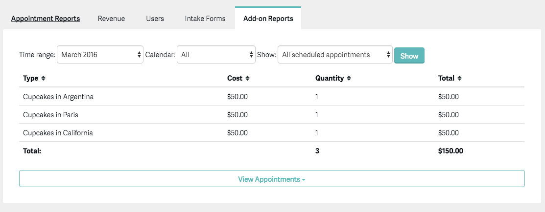 Generating Reports – Acuity Scheduling