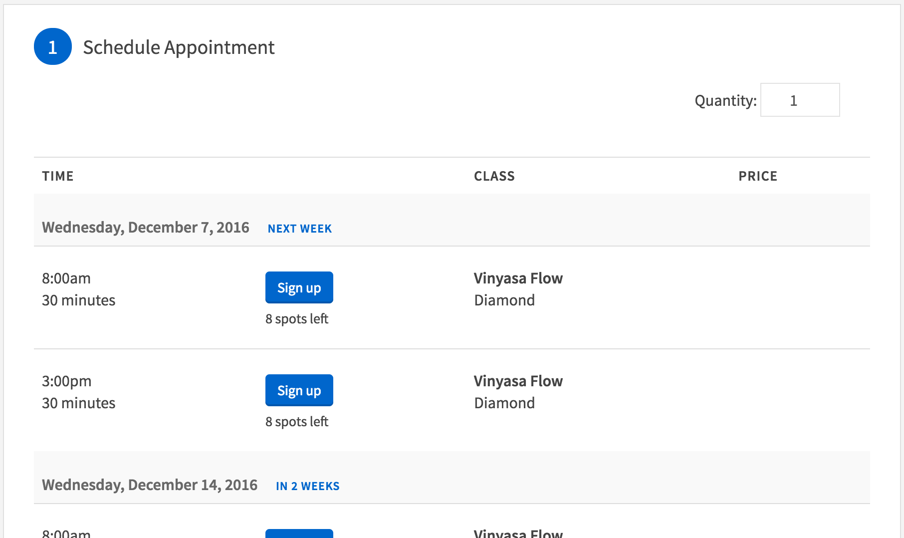 Classes & Group Events – Acuity Scheduling